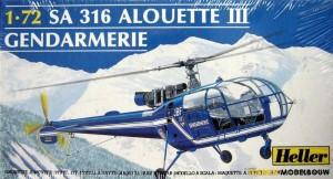 9459-Heller_SA_316_Alouette_III_Gendarmerie_-_1_72
