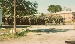 A Coy 1RAR morning parade.