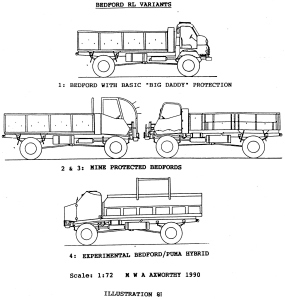 Bedford RL Varients drawings
