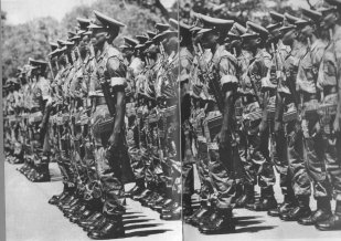Support Unit on parade